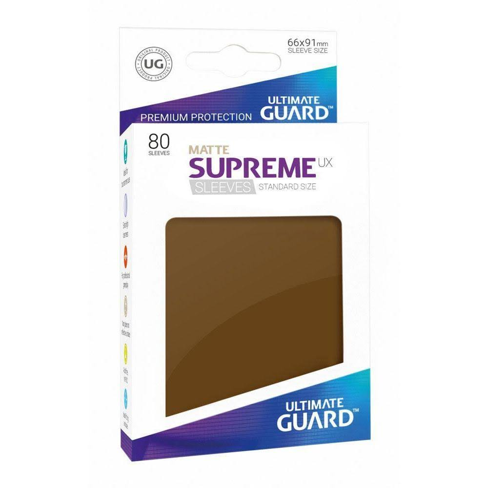 Ultimate Guard Supreme UX Standard Card Sleeves - Matte Brown, 80ct