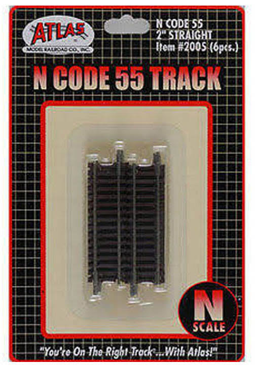 Atlas N Scale Code 55 Straight Track - 2""