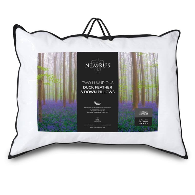 Nimbus Luxurious Duck Feather and Down Pillow Pair