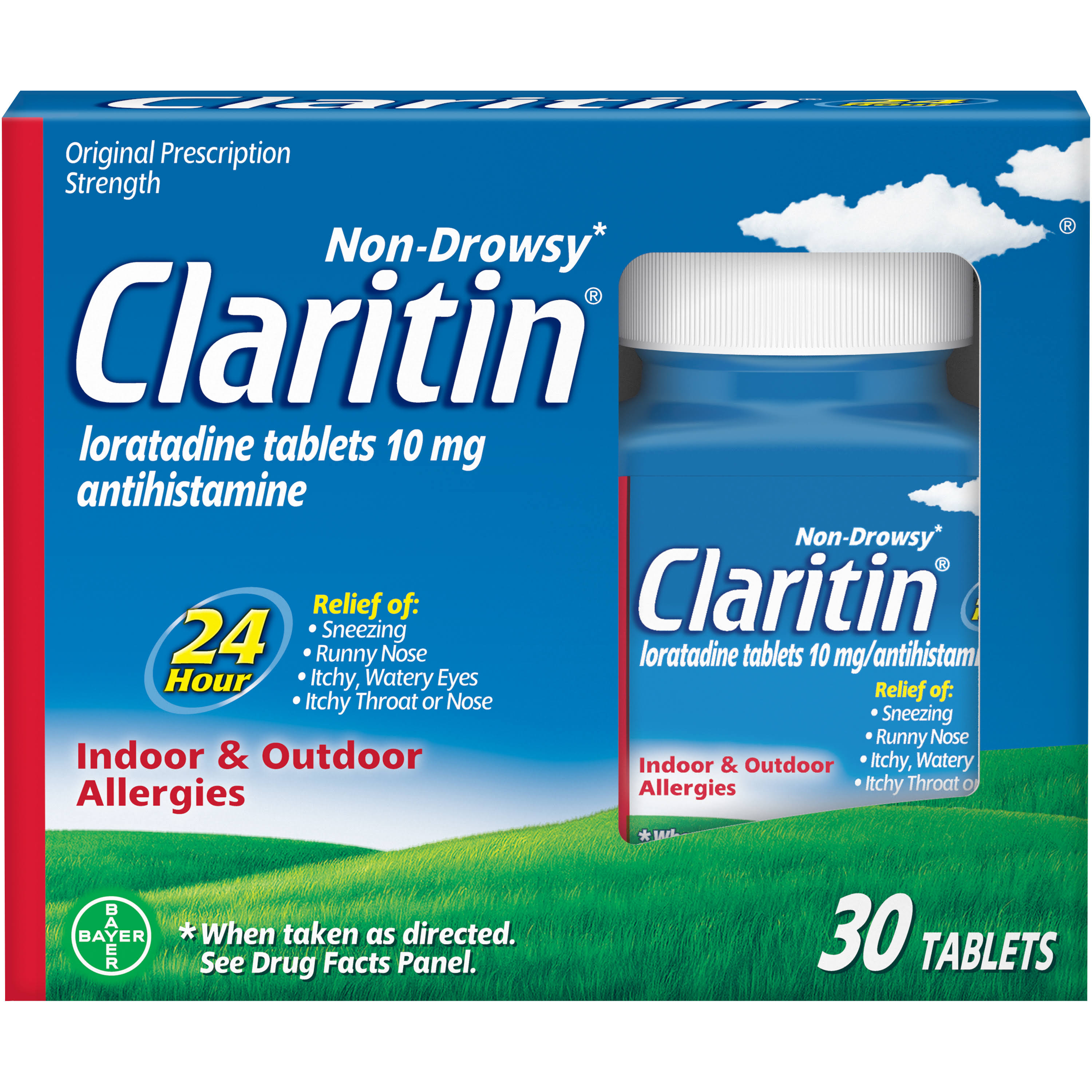Claritin 24 Hour Non-Drowsy Allergy Tablets - 10mg, x30