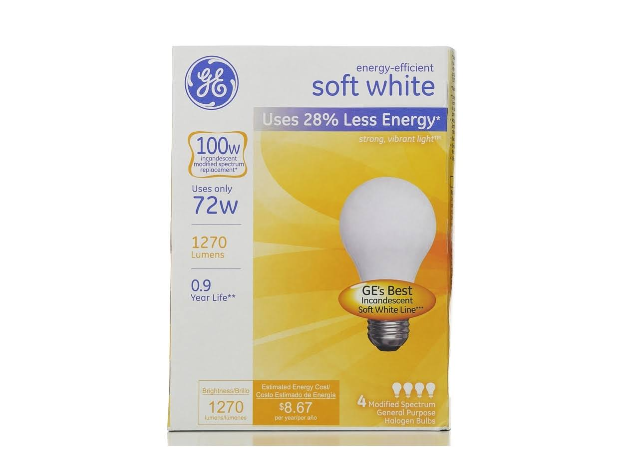 GE Energy-Efficient Light Bulb - 72W