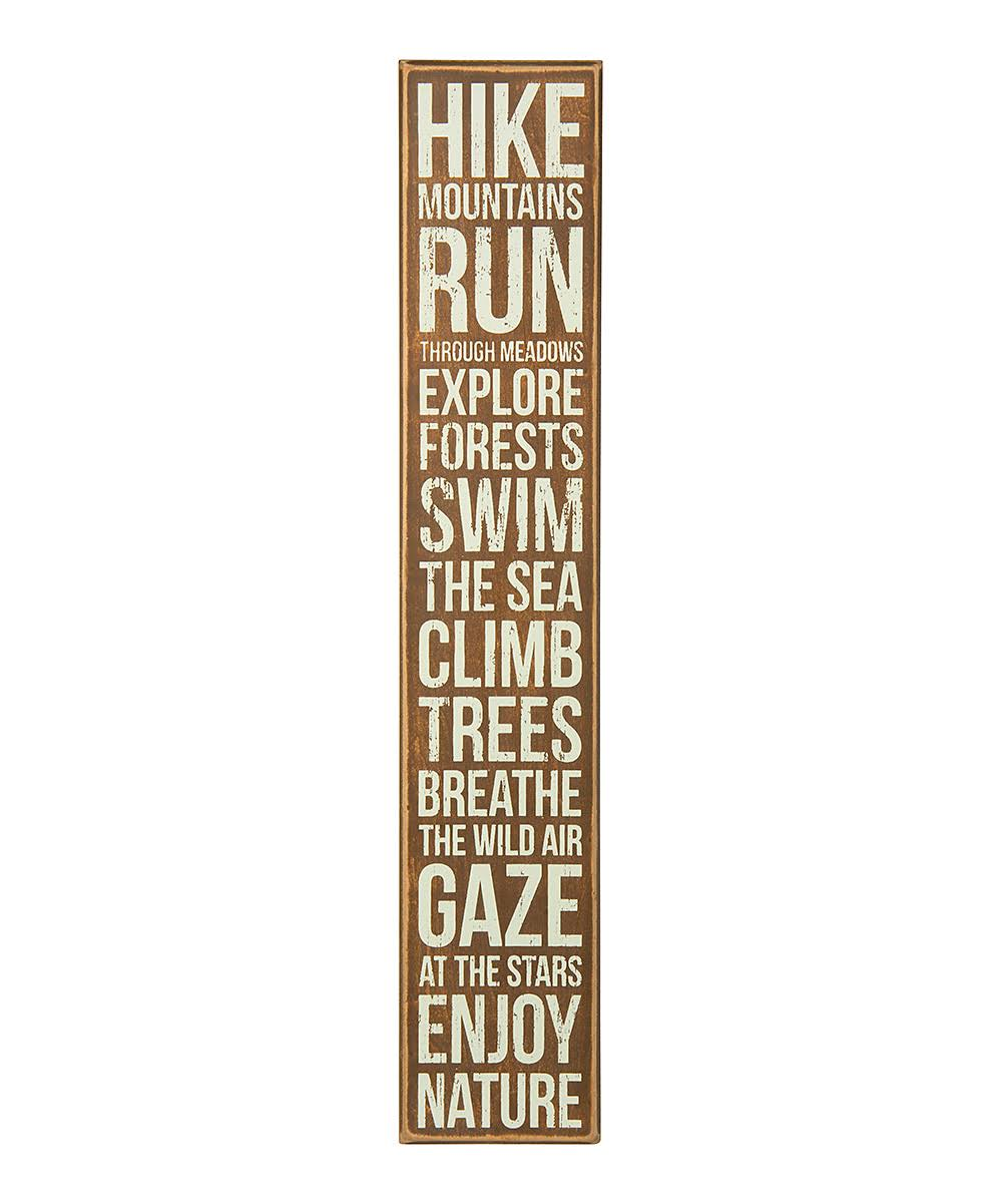 Primitives by Kathy Block Sign 'Hike Mountains' Box Sign One-Size