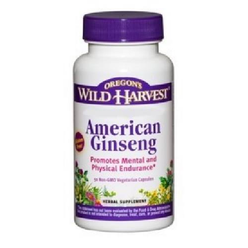 Oregon's Wild Harvest American Ginseng Herbal Supplement - 50ct