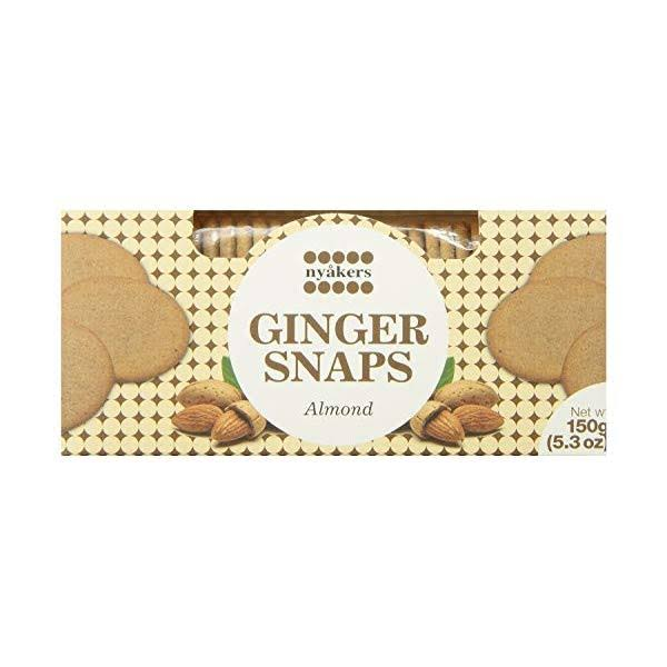 Nyakers Swedish Ginger Snaps - Almond