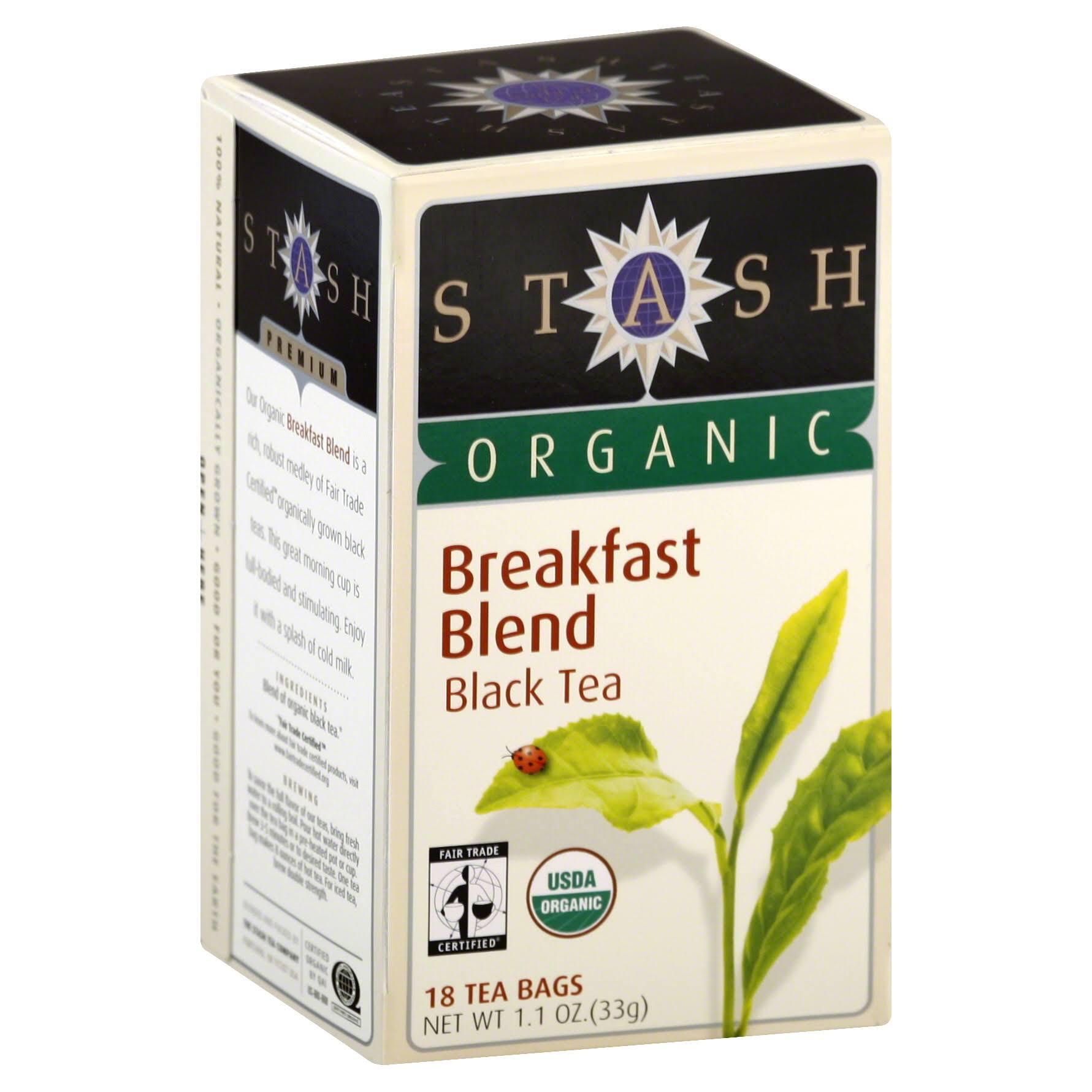 Stash Tea Organic Breakfast Blend - 18 Bags
