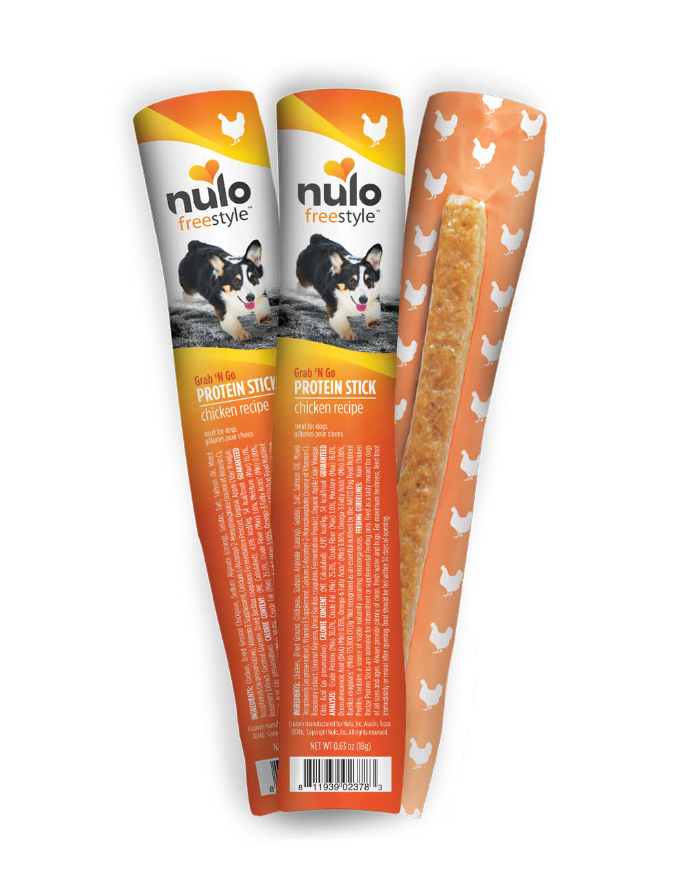 Nulo Freestyle Grain Free Chicken Recipe Dog Protein Stick