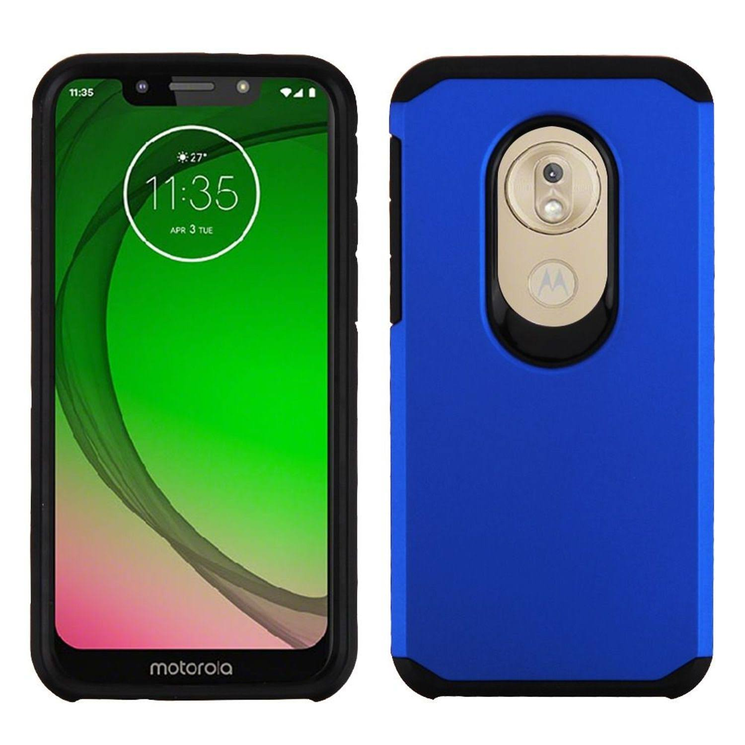 ASMYNA Blue/Black Astronoot Phone Protector Cover for Moto G7 Play