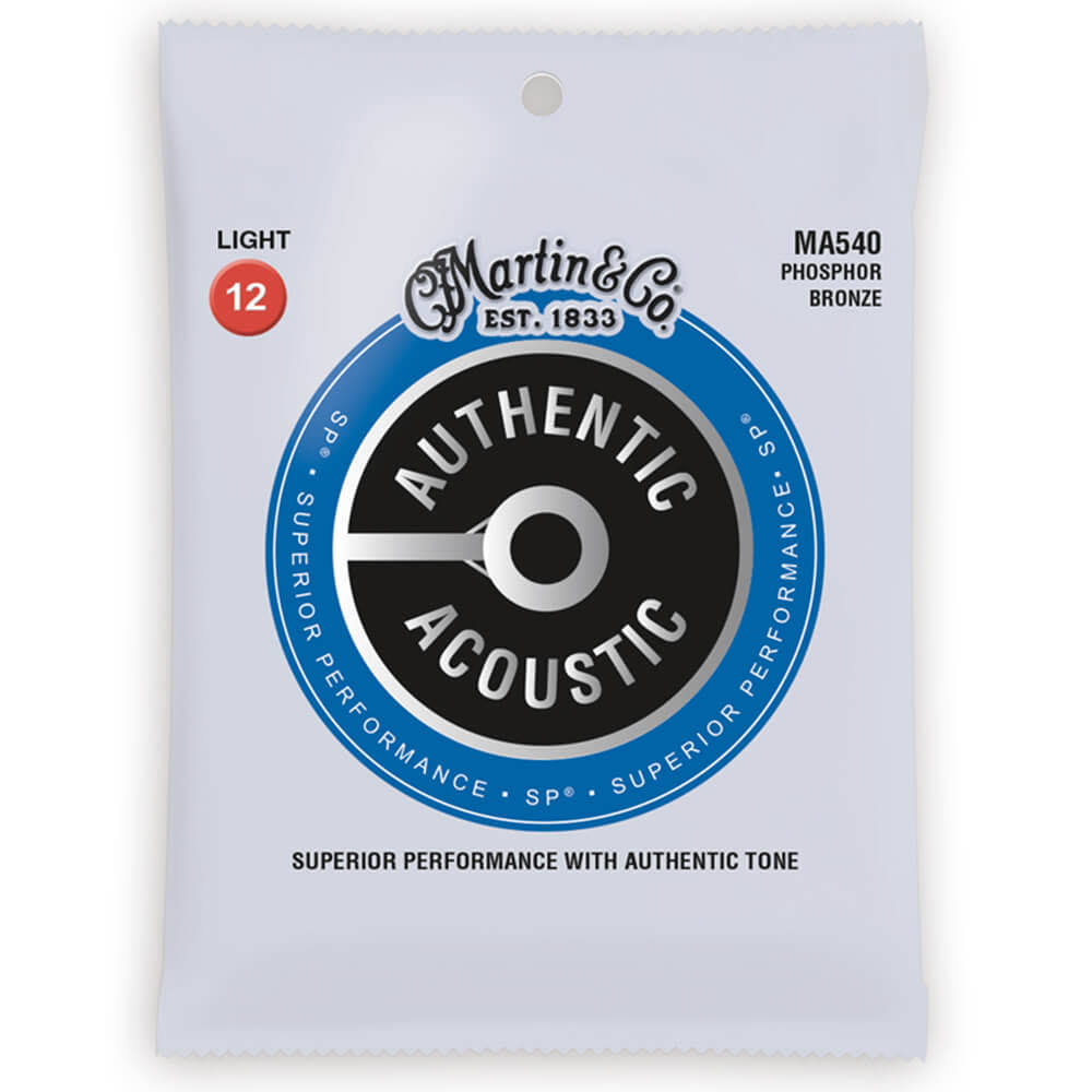Martin Authentic MA540 Acoustic Guitar Strings - Phosphor Bronze