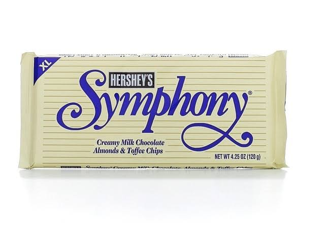 Hershey's XL Symphony Chocolate Bar - Almonds & Toffee Chips, 4.25oz