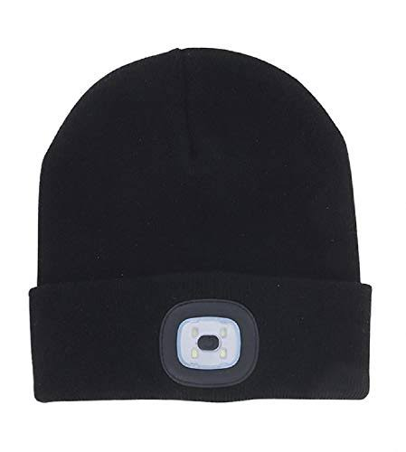Night Scout Black Rechargeable LED Beanie