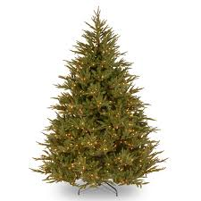 Lifelike Artificial Christmas Trees Canada by Pre Lit Deluxe Fraser Fir Feel Real Artificial Christmas Tree
