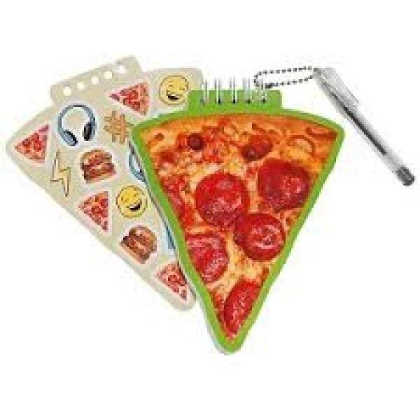 3C4G Pizza Mini Notepad with Mini Glitter Ink Gel Pen (36187)