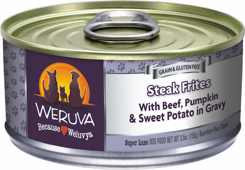 Weruva Steak Frites Canned Dog Food - Beef Pumpkin And Sweet Potato In Gavy