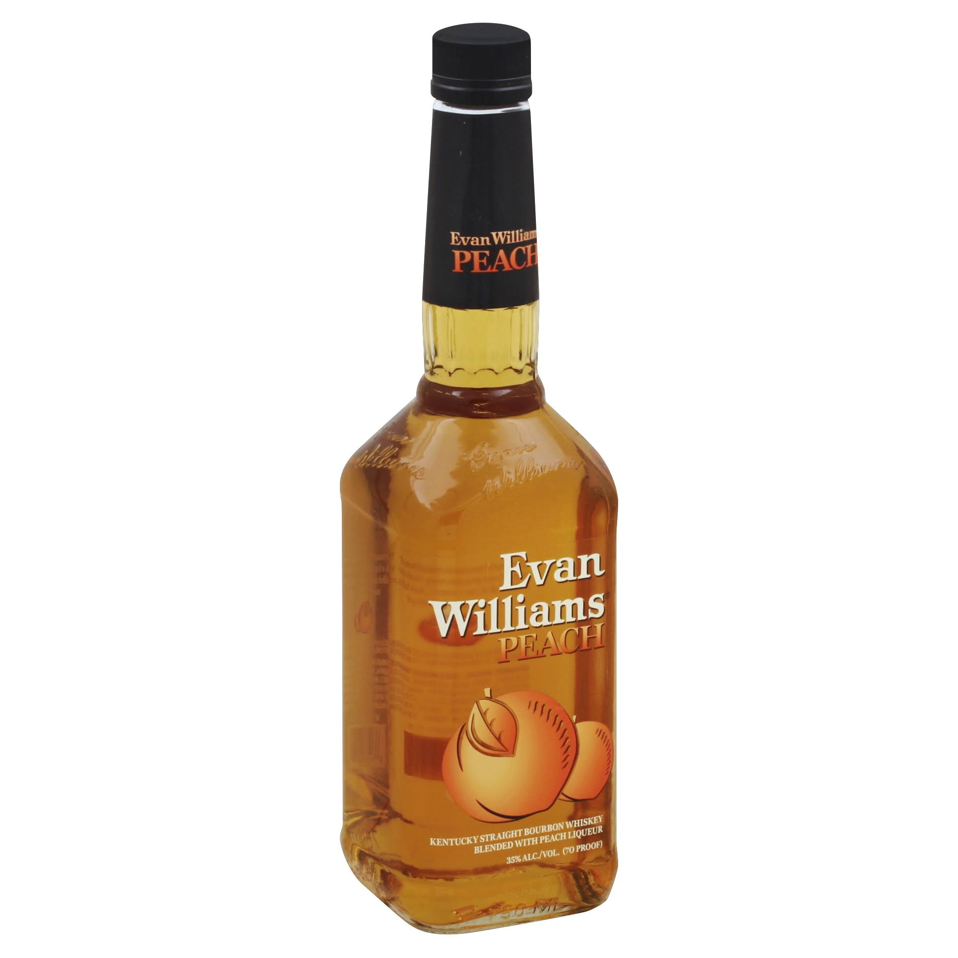 Evan Williams Whiskey, Kentucky Straight Bourbon, Peach - 750 ml