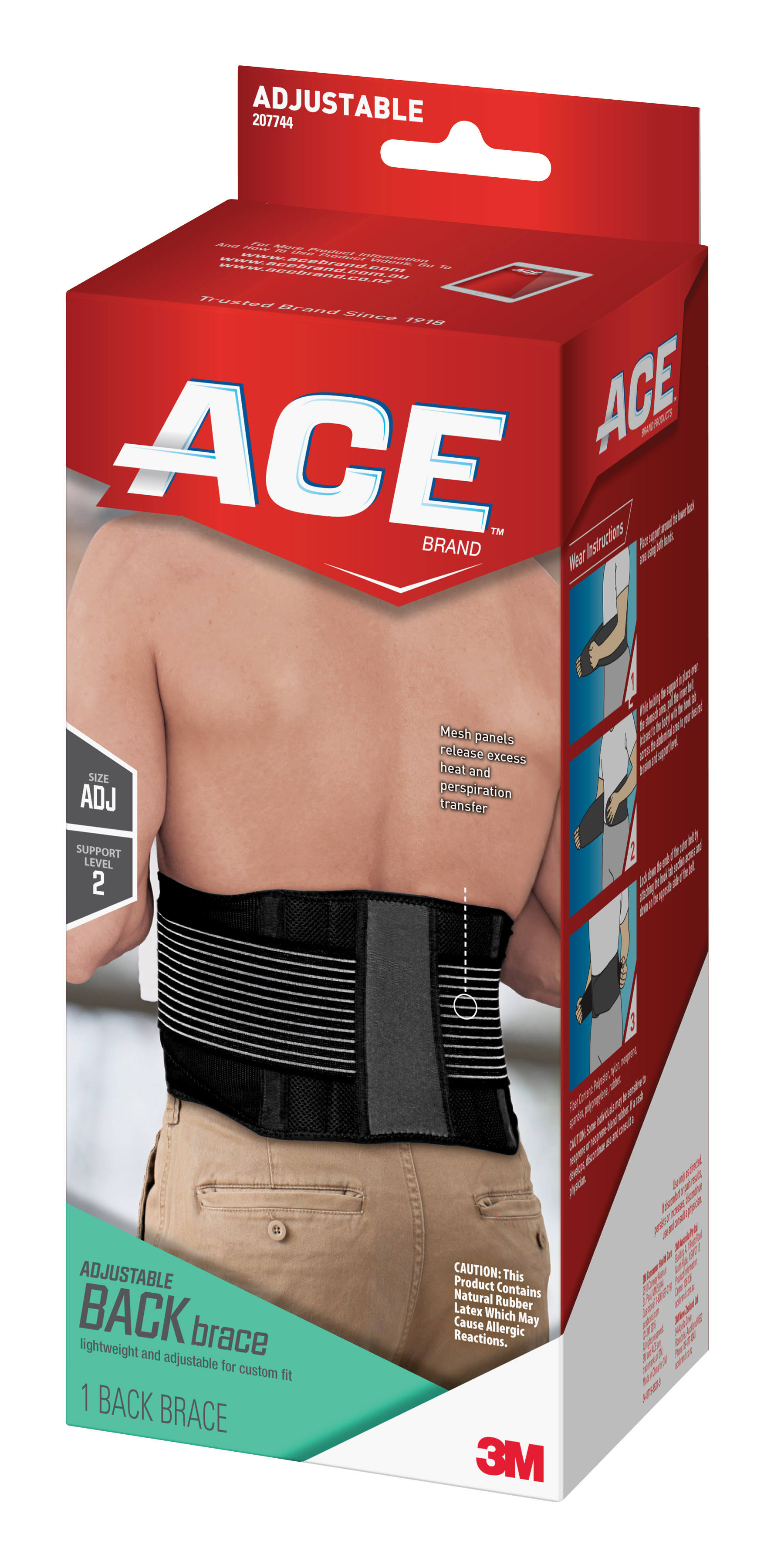Ace Adjustable Back Brace - 1 Back Brace