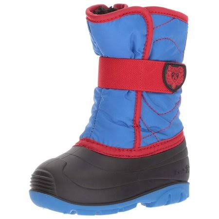 Kamik Boys Snowbug 3 Toddler Snow Boot -Cobalt/Red