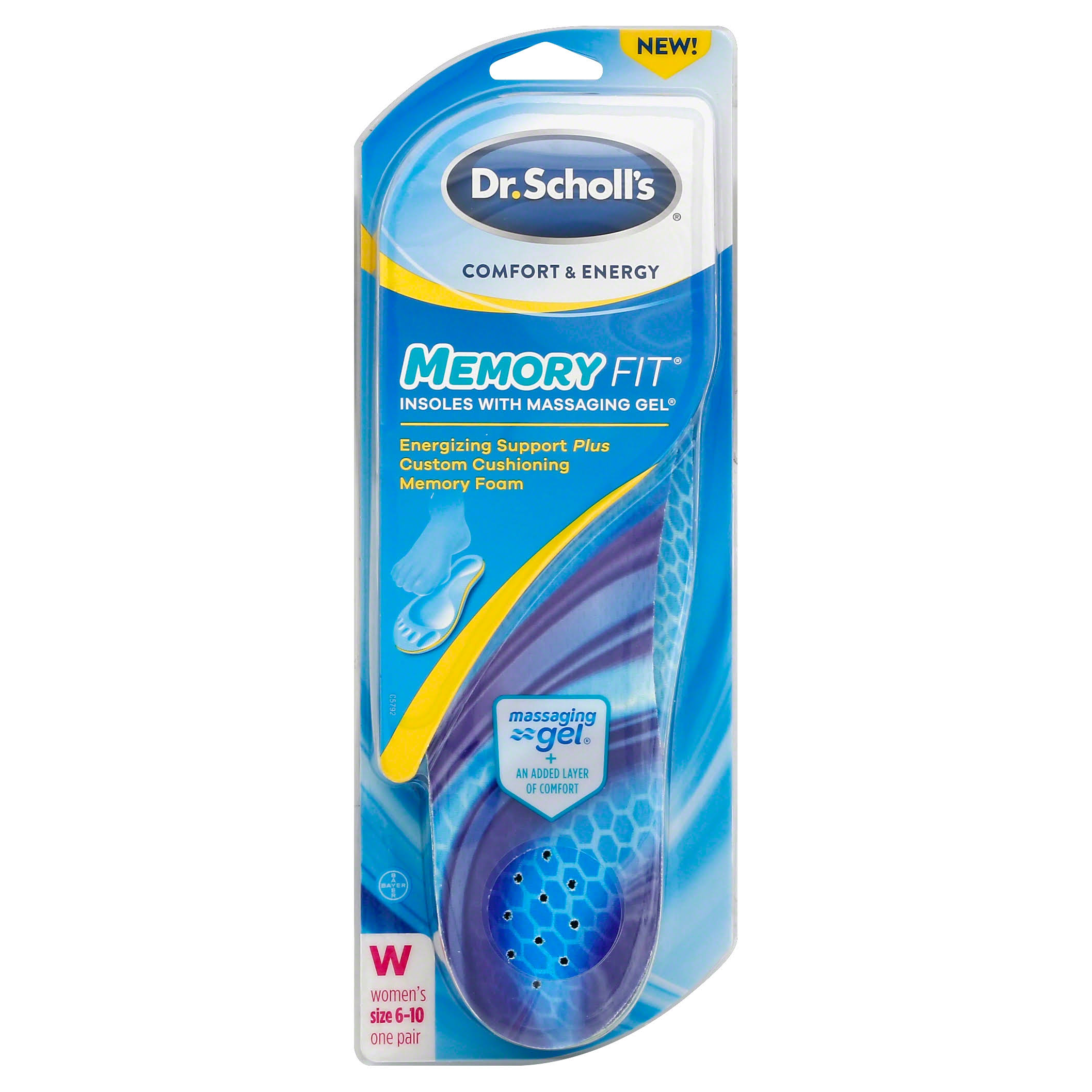 Dr. Scholl's Comfort & Energy Memory Fit Insoles - Women, Size 6-10