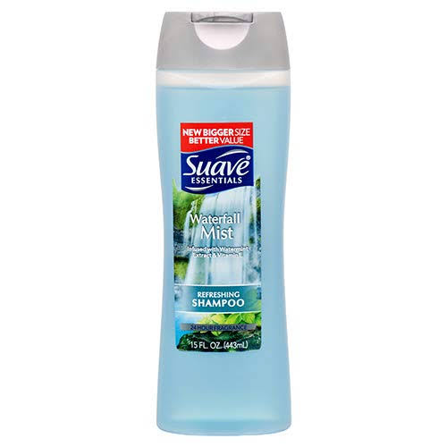 Suave Essentials Shampoo, Refreshing, Waterfall Mist - 15 fl oz