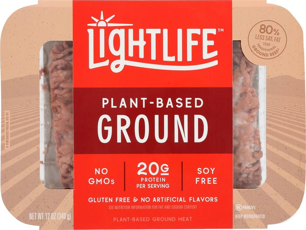 Lightlife Meat, Ground, Plant-Based - 12 oz