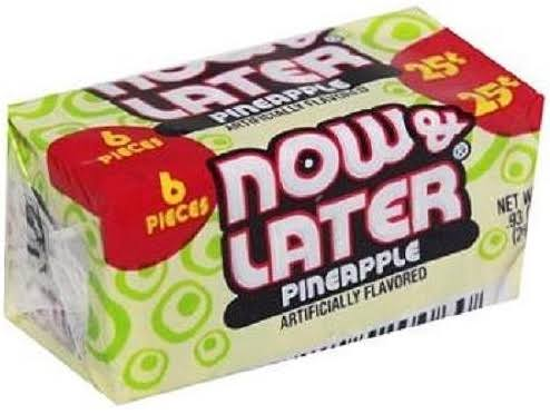 12 Packs : Now&Later CHANGEMAKERS Bars Pineapple - 25C 6 Pcs Each