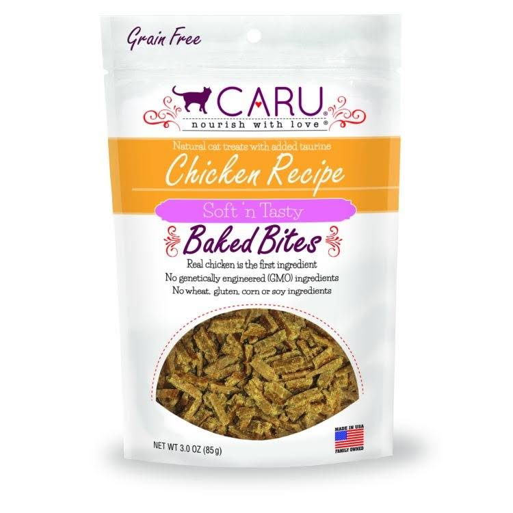Caru Cat Natural Chicken Recipe Bites 3 oz