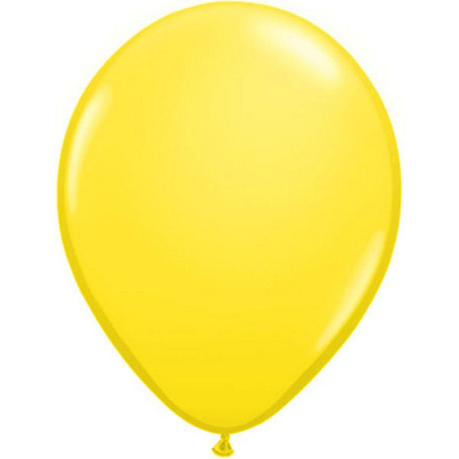 "Qualatex Round Balloons - 11"", Yellow, Pack of 100"