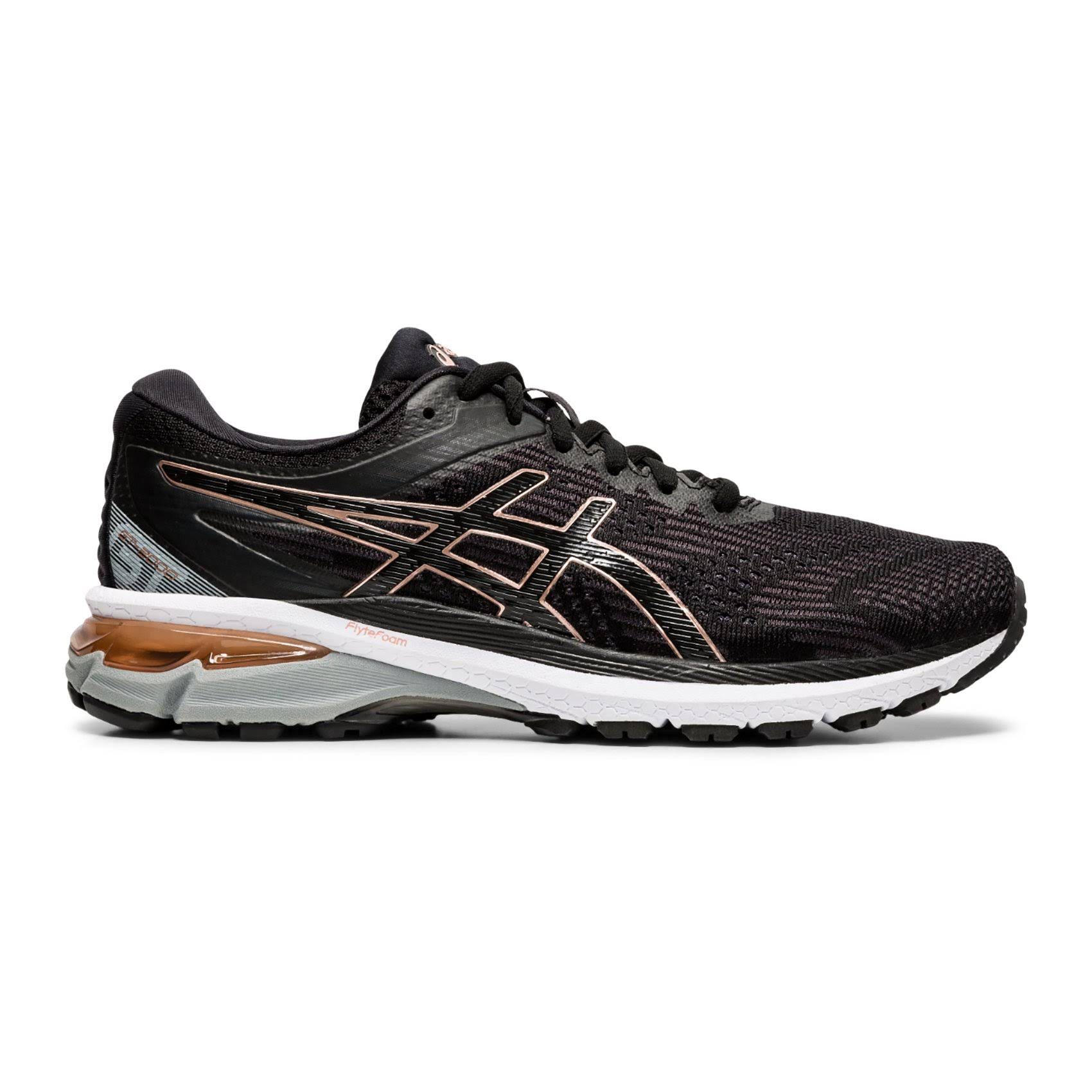 Asics Women's GT 2000 8 - Black - Rose Gold - 11 - D