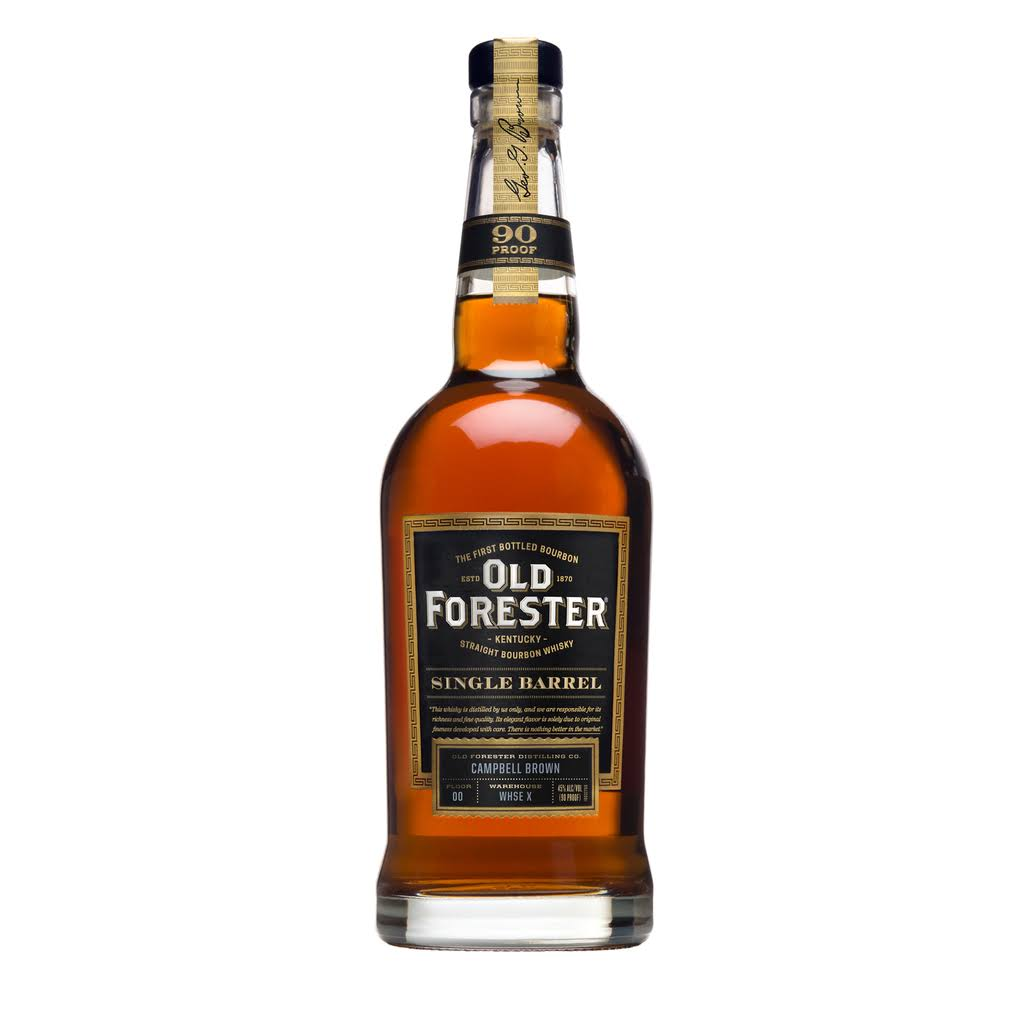 Old Forester Single Barrel Bourbon, Kentucky Straight Bourbon Whiskey - 750 ml