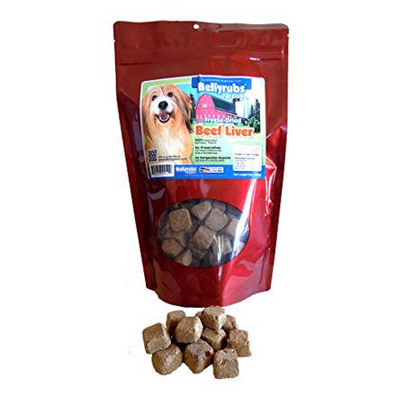 Bellyrubs Organic All Natural Freeze-Dried Dog Treats - Chicken and Liver, 4oz
