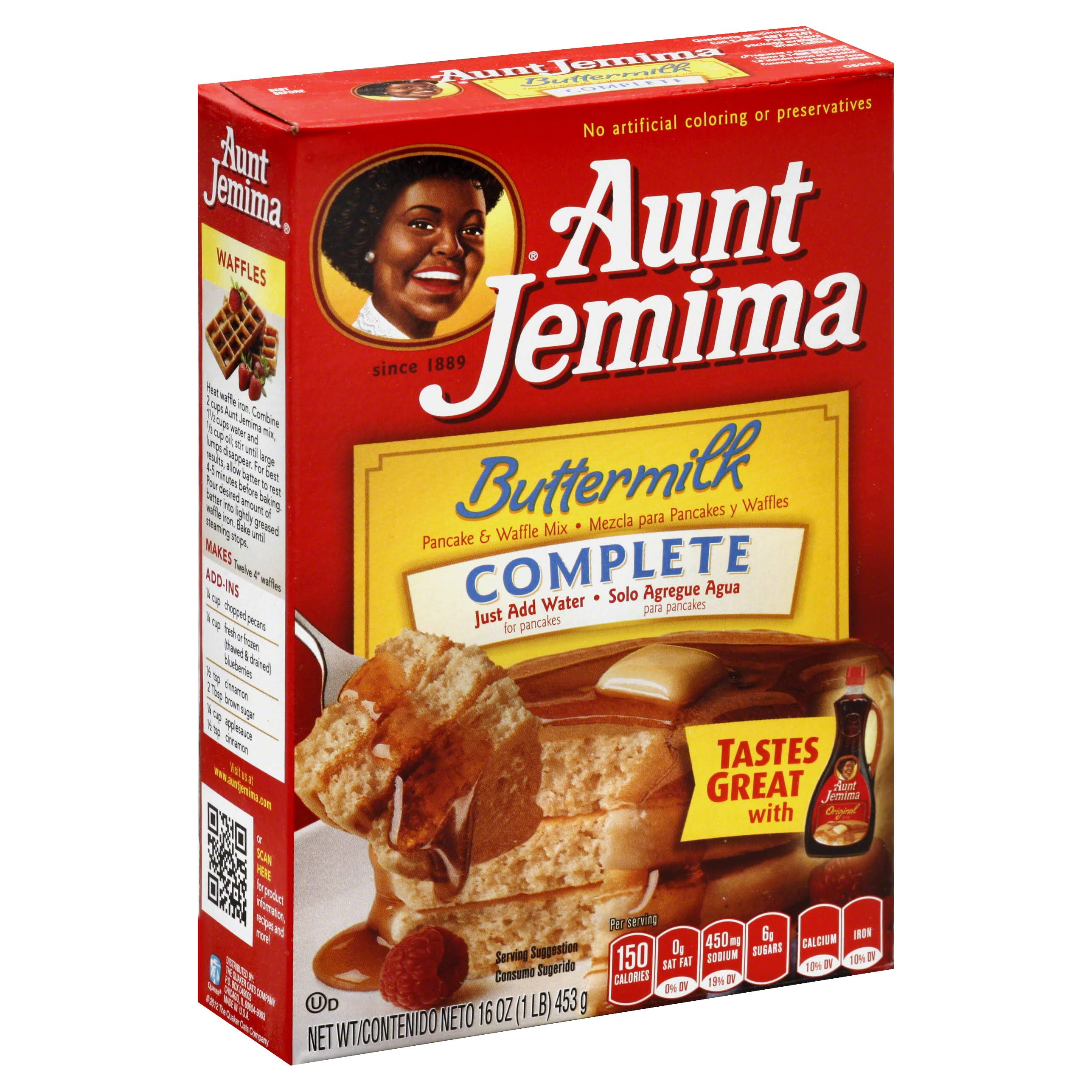 Aunt Jemima Buttermilk Complete Pancake and Waffle Mix - 453g