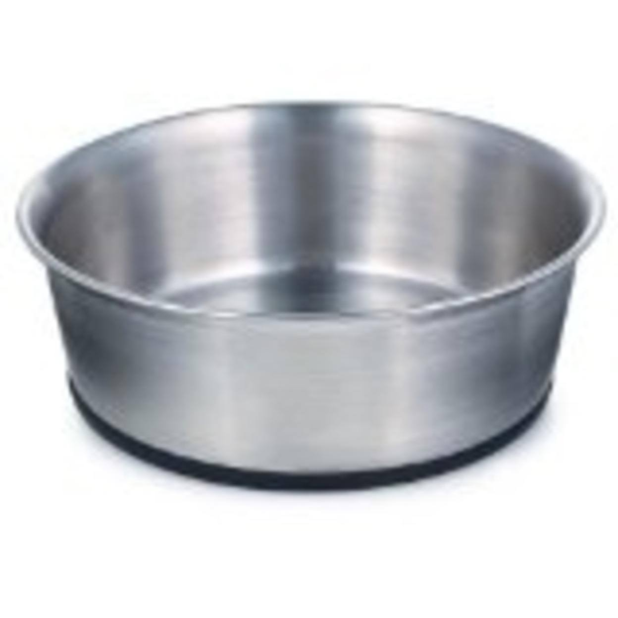 ProSelect Stainless Steel Dog Bowl with Rubber Base 8-Inch 52-ounce