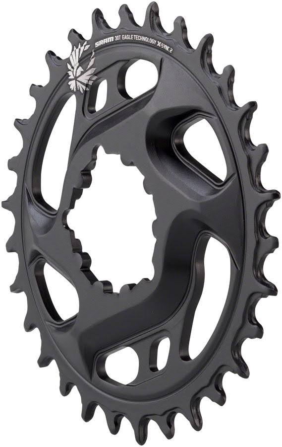 Sram X-sync 30T Bicycle Chainring - Aluminum, Black, 12 Speed, 3MM Offset