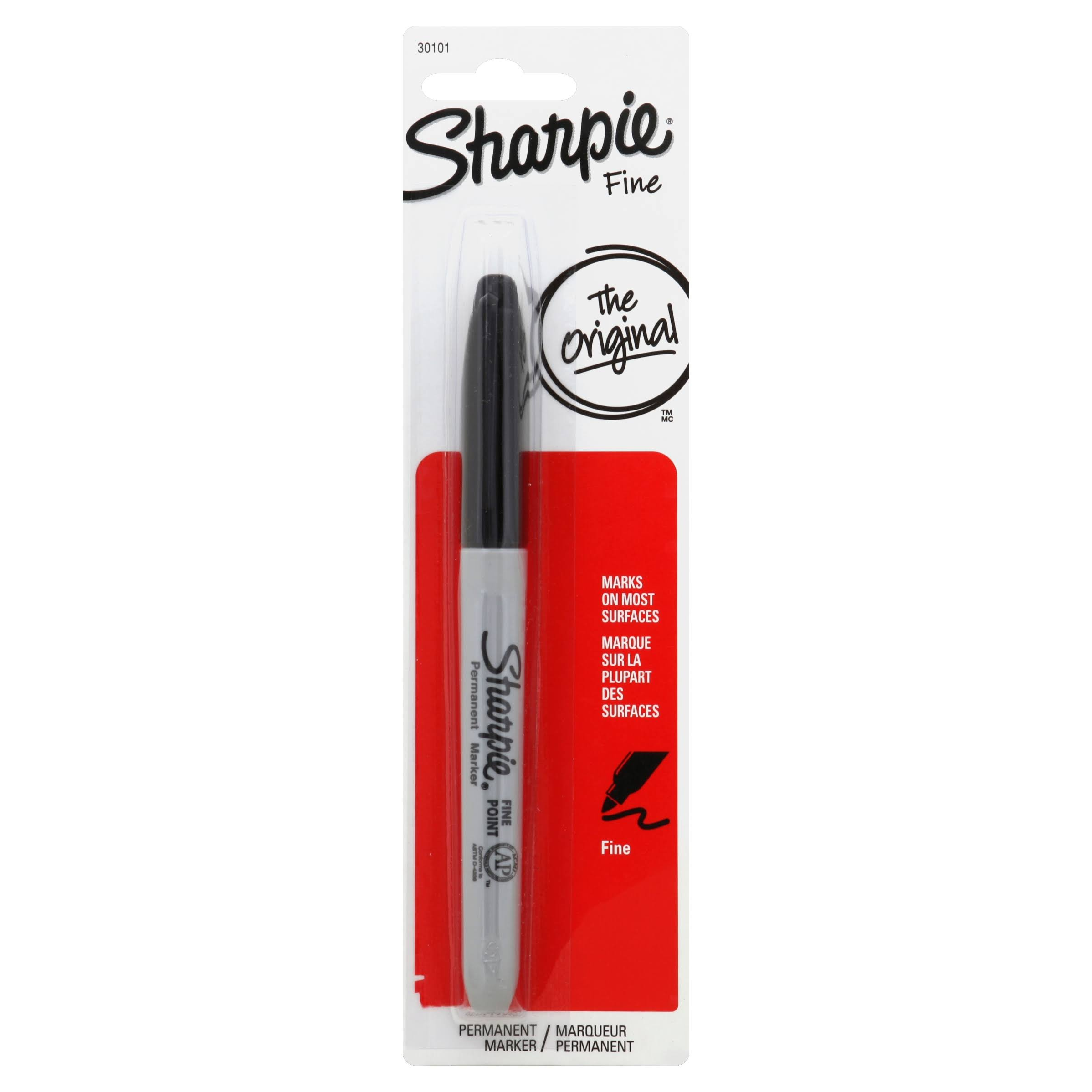 Sharpie Permanent Marker - Fine Tip, Black
