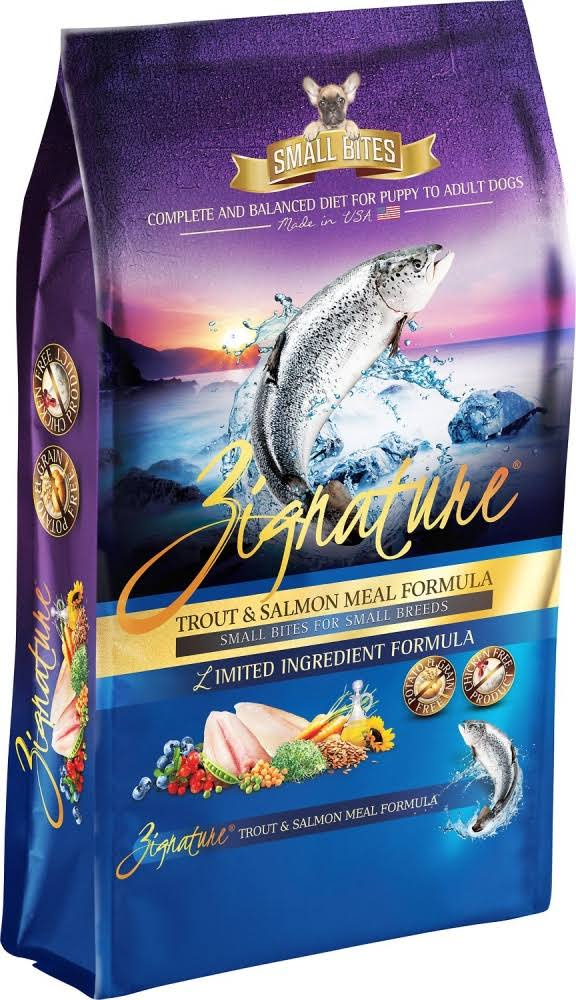 Zignature Trout & Salmon Small Bites Dry Dog Food - 4 lb