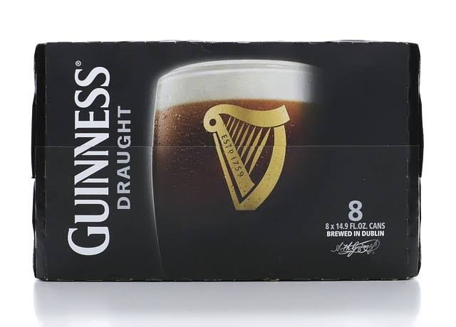 Guinness Draught Beer - 8 Cans