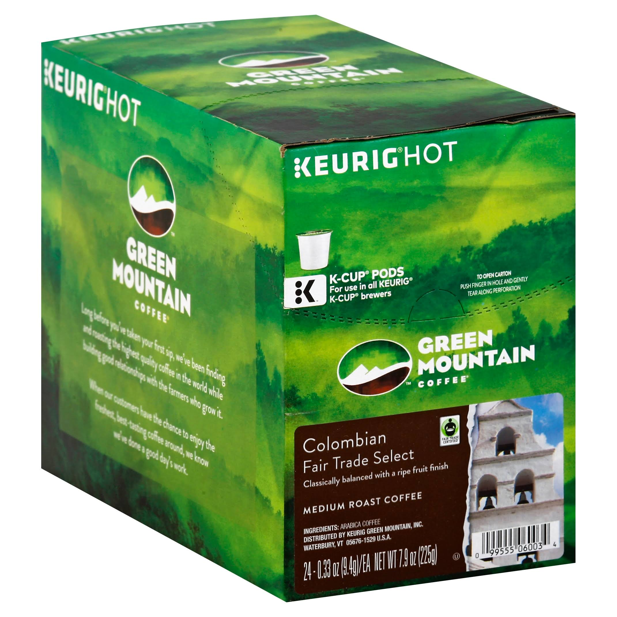Green Mountain Keurig Colombian Fair Trade Select Coffee - 24 K-Cups