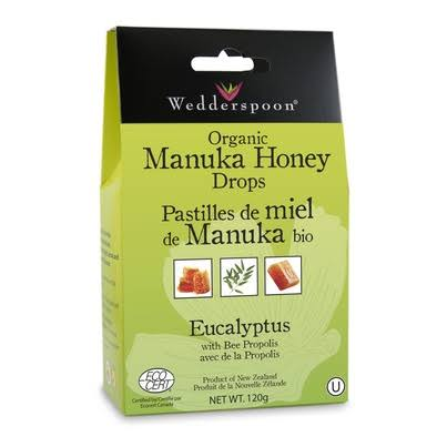 Wedderspoon Organic Manuka Honey Drops - Eucalyptus