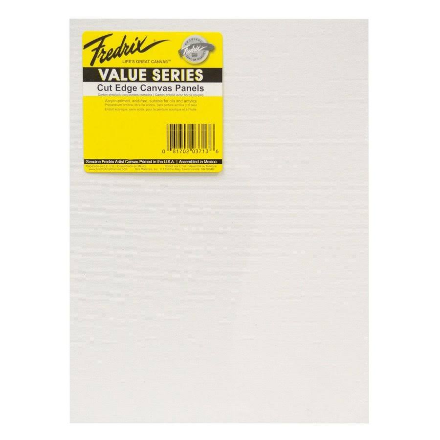 "Fredrix Value Series Cut Edge T3715 12"" x 16"" Canvas Panels 6-Pack"