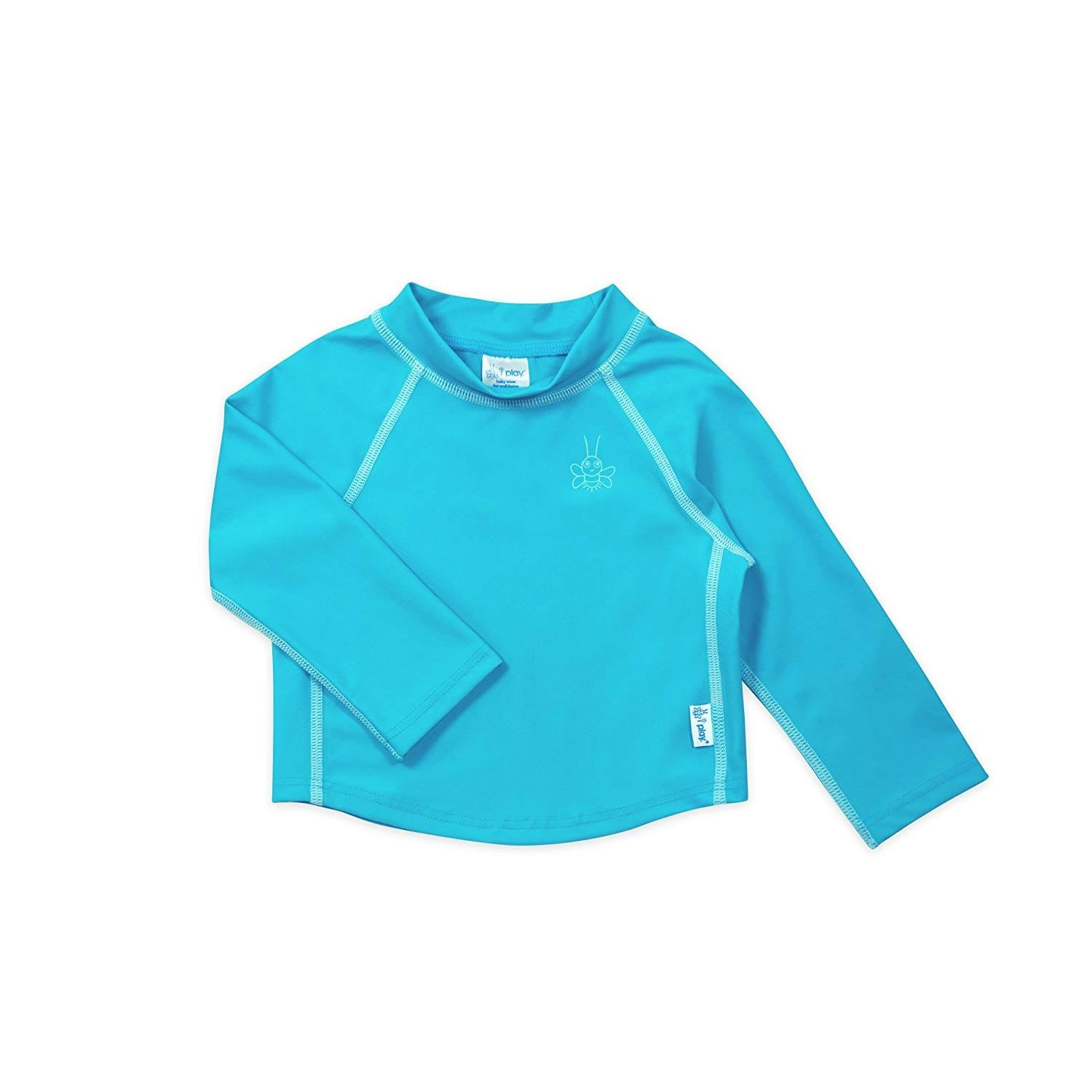 I Play. Aqua Long Sleeve Rashguard Shirt