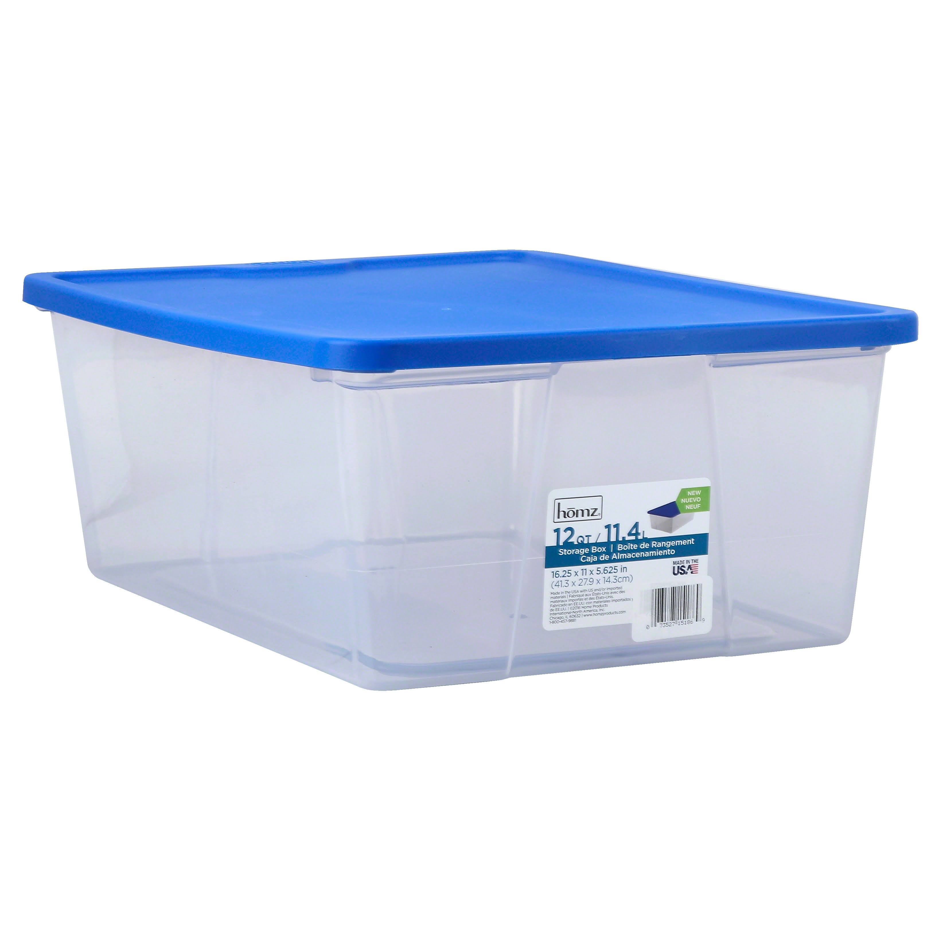 Homz Utility storage Tubs and Totes Plastic - Blue, Clear