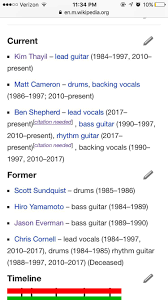Smashing Pumpkins Wikipedia Ita by According To The Band Members Section Of Soundgarden U0027s Wikipedia