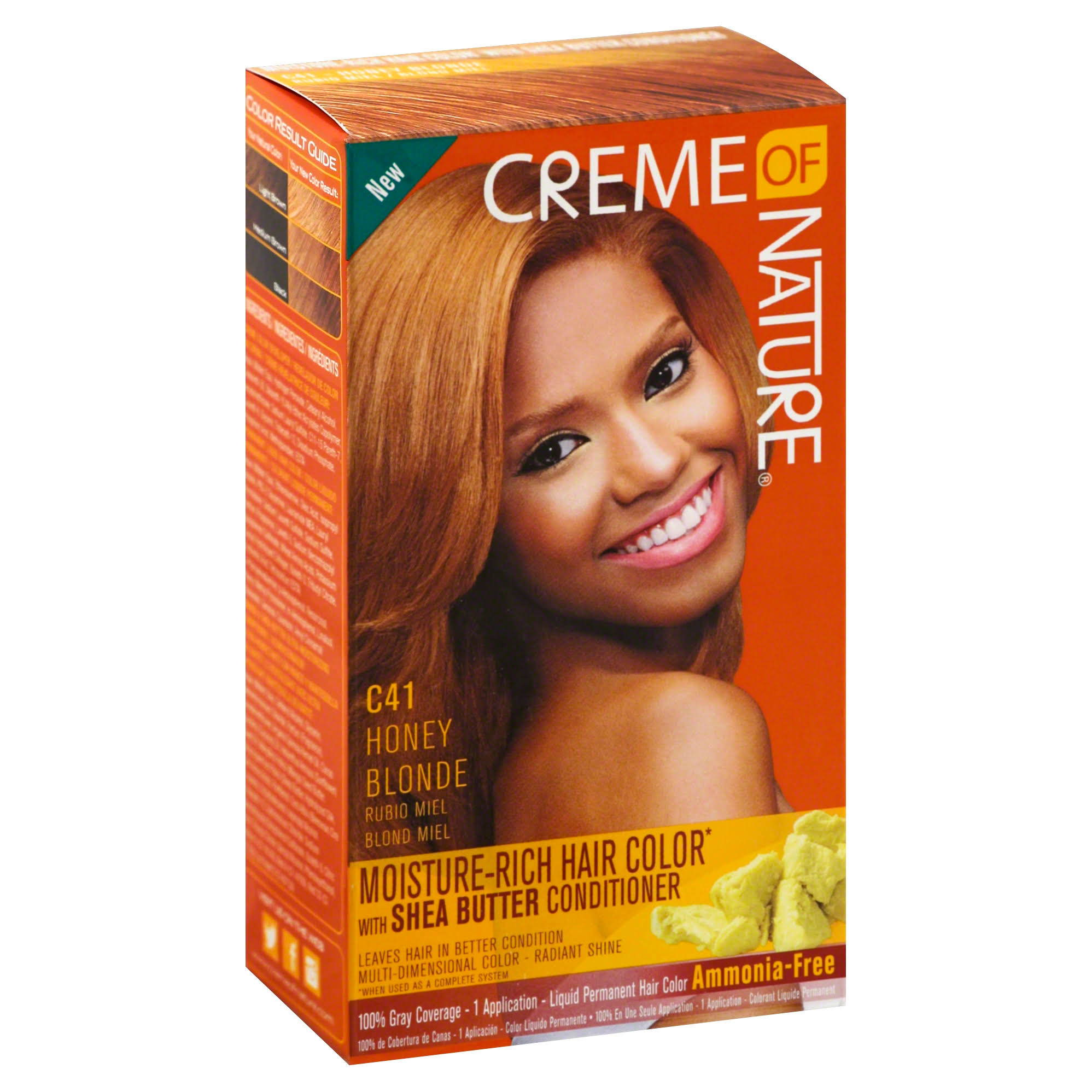 Creme of Nature Moisture Rich Hair Color Kit - C41 Honey Blonde