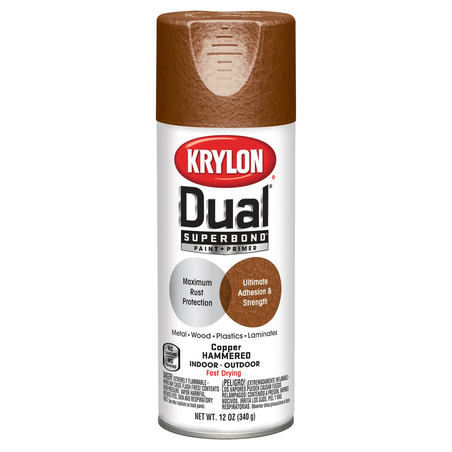 Krylon Dual Paint And Primer Spray Paint - Copper Hammered