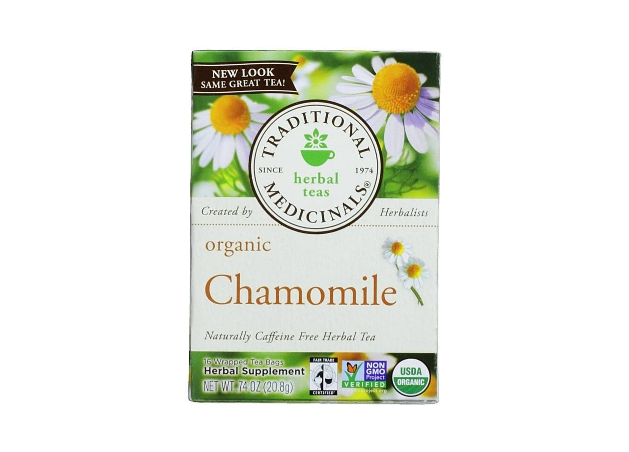 Traditional Medicinals Organic Chamomile Wrapped Tea Bag - 16ct, 0.74oz