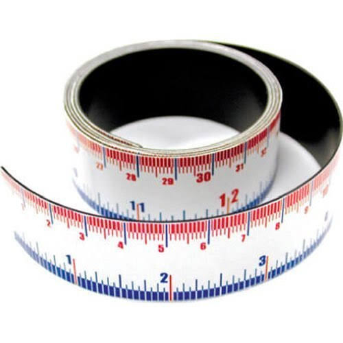 "Master Magnetics Flexible Magnetic Measuring Tape - 1"" X 1'"