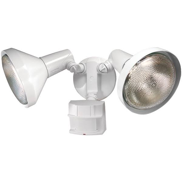 Heath Zenith SL-5412-WH-D Motion Sensing Twin Security Light - White, 300W