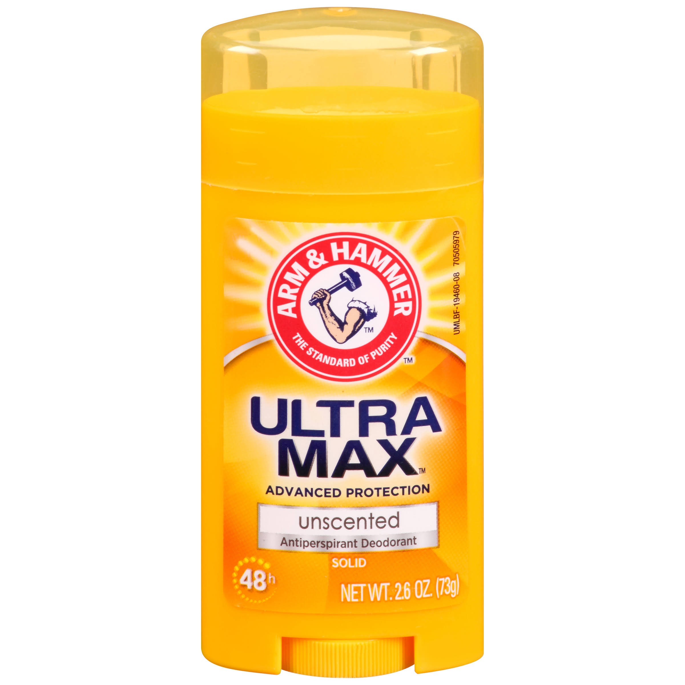Arm and Hammer UltraMax Invisible Solid Antiperspirant Deodorant - Unscented, 2.6oz
