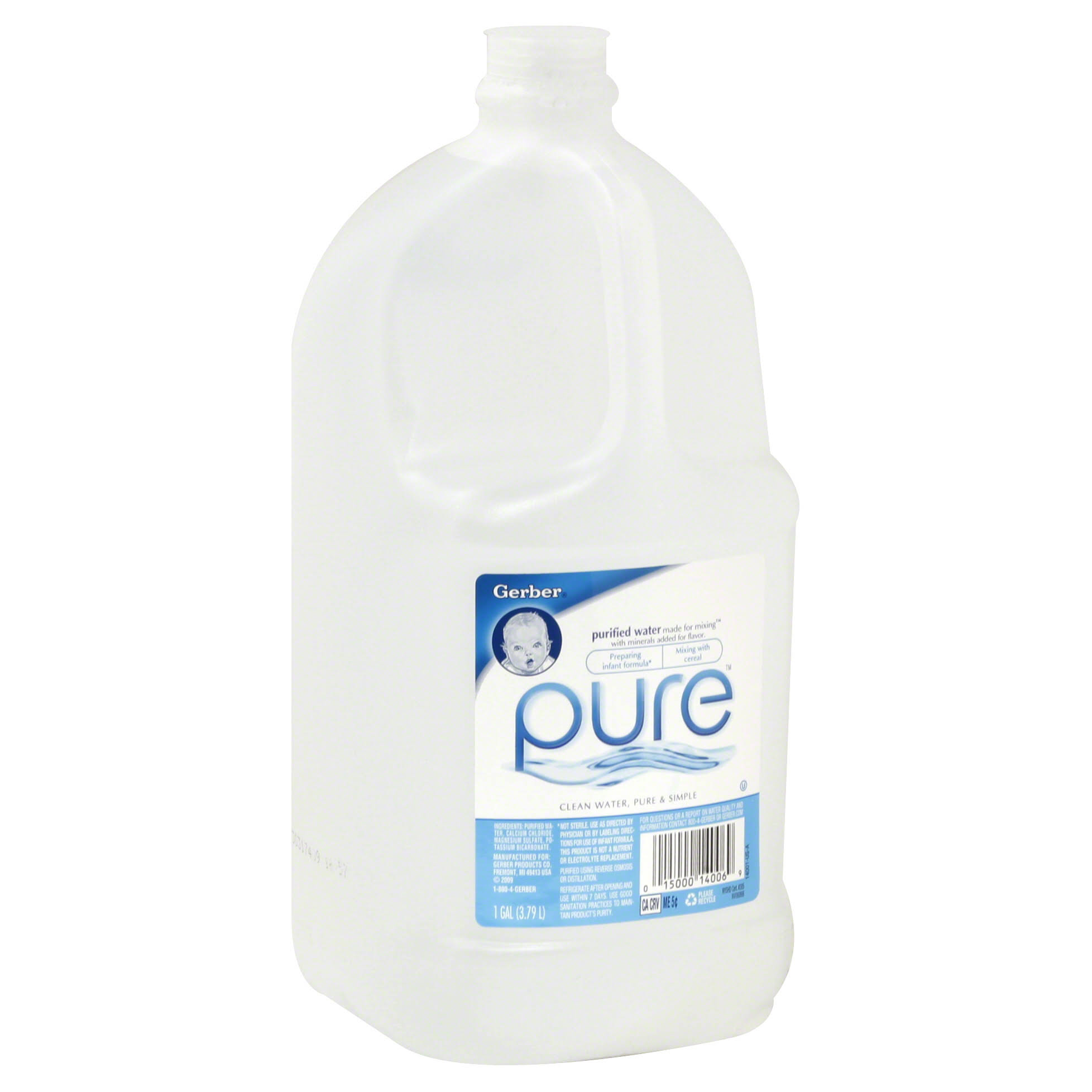 Gerber Pure Purified Water - with Minerals Birth+, 1gal