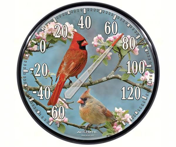 AcuRite Wall Thermometer - Cardinals, 12.5""