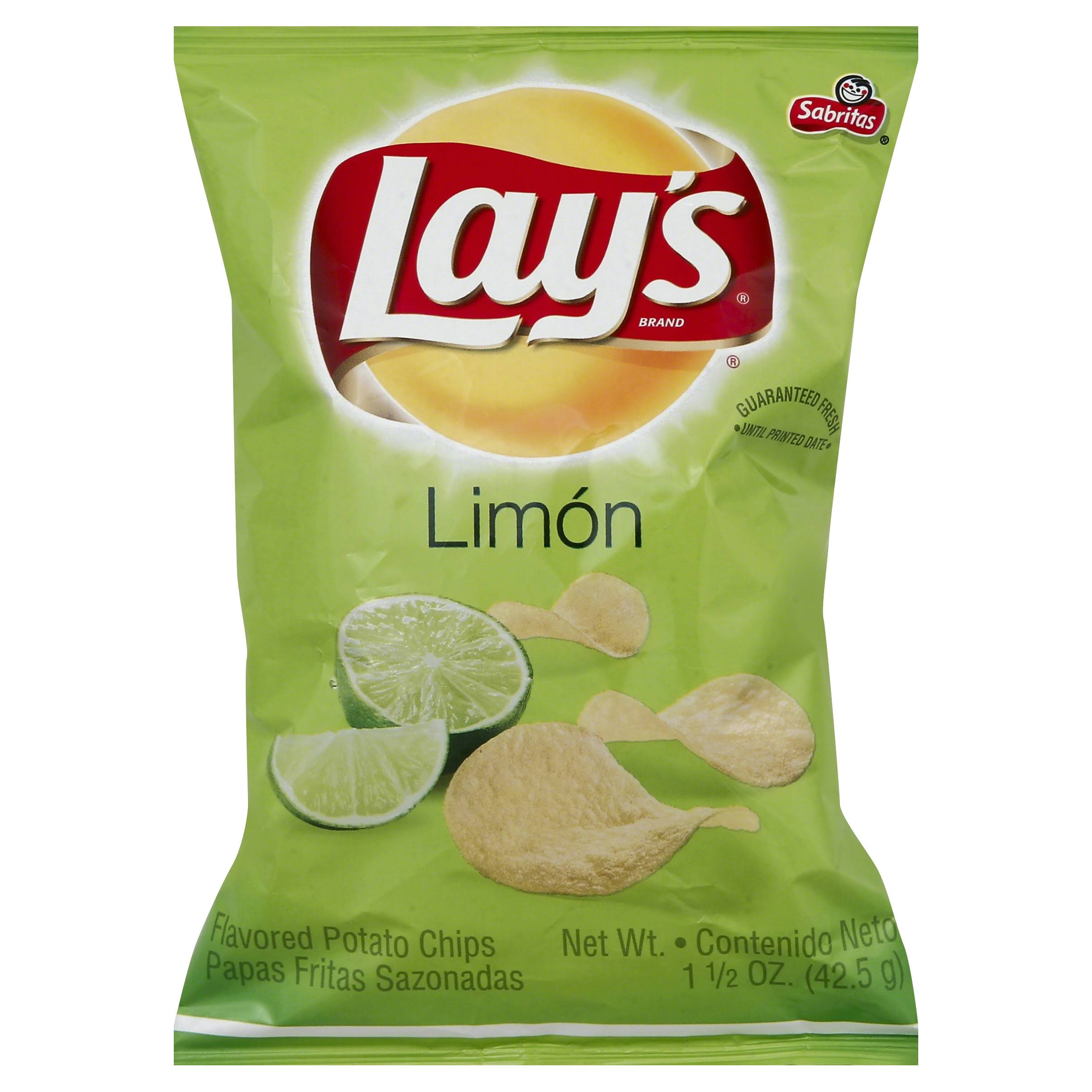 Lays Potato Chips, Flavored, Limon - 1.5 oz